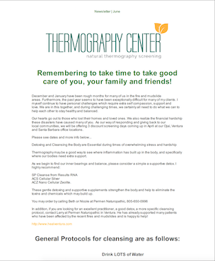 Thermography Newsletter January 2018 thumb