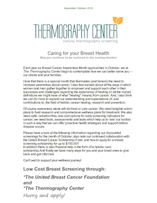 Thermography Newsletter October 2018 thumb